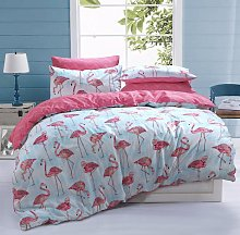 Argos Home Flamingo Stripe Bedding Set - Double