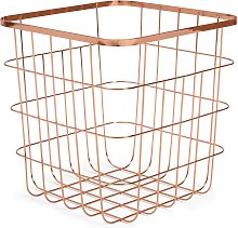 Argos Home Flat Wire Squares Storage Basket - Rose