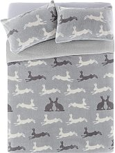 Argos Home Fleece Hare Bedding Set - Double