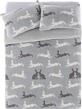 Argos Home Fleece Hare Bedding Set - Kingsize
