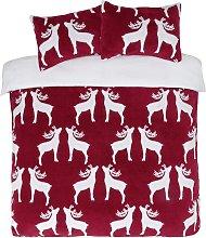 Argos Home Fleece Reindeer Bedding Set - Double