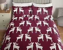 Argos Home Fleece Reindeer Bedding Set - Single