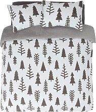 Argos Home Fleece Trees Bedding Set - Double