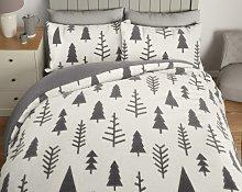 Argos Home Fleece Trees Bedding Set - Kingsize