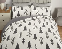 Argos Home Fleece Trees Bedding Set - Single