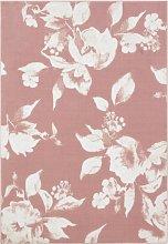 Argos Home Floral Cut Pile Rug - 120x170cm - Blush