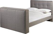 Argos Home Forsyth Double TV Bed Frame - Dove Grey