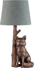 Argos Home Fox Table Lamp - Bronze & Grey