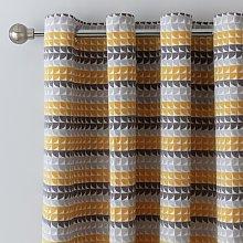 Argos Home Geo Jacquard Fully Lined Eyelet Curtains