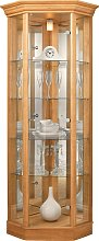 Argos Home Glass Corner Display Cabinet -Light Oak Effect