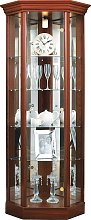 Argos Home Glass Corner Display Cabinet - Mahogany