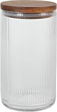 Argos Home Glass Ribbed Large Canister