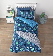 Argos Home Glow in the Dark Monsters Bedding Set -
