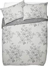 Argos Home Grey Classic Floral Bedding Set -