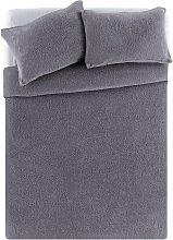 Argos Home Grey Fleece Bedding Set - Kingsize