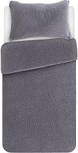 Argos Home Grey Fleece Bedding Set - Single