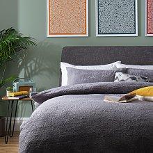 Argos Home Grey Fleece Bedding Set - Superking
