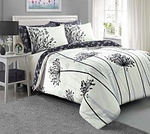 Argos Home Grey Meadow Bedding Set - Double