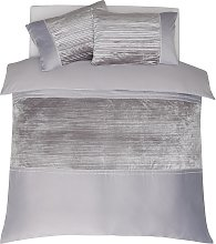 Argos Home Grey Sparkle Velvet Bedding Set - Double