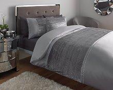 Argos Home Grey Sparkle Velvet Bedding Set - Single