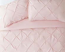 Argos Home Hadley Pink Pintuck Bedding Set - Double