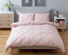 Argos Home Hadley Pink Pintuck Bedding Set -