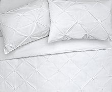 Argos Home Hadley White Pintuck Bedding Set -