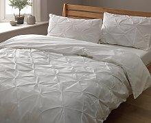 Argos Home Hadley White Pintuck Bedding Set -