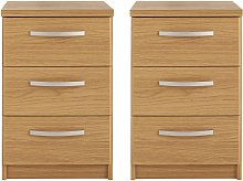 Argos Home Hallingford 2 Bedside Tables Set - Oak