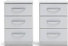 Argos Home Hallingford 2 Bedside Tables Set - White