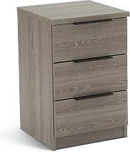 Argos Home Hallingford 3 Drw Bedside Table - Grey
