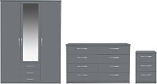 Argos Home Hallingford 3 Piece 3 Door Wardrobe Set