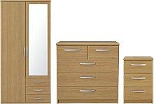 Argos Home Hallingford 3 Piece Wardrobe Set - Oak