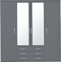 Argos Home Hallingford 4 Door 3 Drawer Mirror