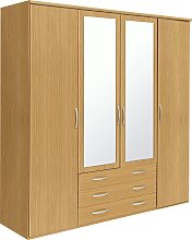 Argos Home Hallingford 4Dr 3 Drw Mirror Wardrobe