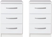 Argos Home Hallingford Gloss 2 Bedside Tables Set