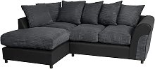 Argos Home Harry Left Corner Fabric Sofa - Charcoal