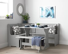 Argos Home Haversham Corner Dining Set & Bench - Grey
