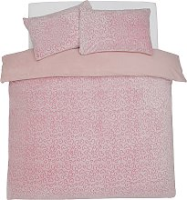 Argos Home Heart Fleece Bedding Set - Kingsize