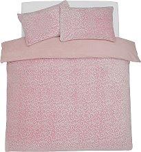 Argos Home Heart Fleece Bedding Set - Single