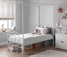 Argos Home Hearts Single 4 Poster Metal Bed Frame