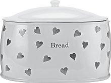 Argos Home Hearts Stoneware Bread Bin - White