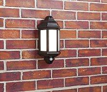 Argos Home Hendon Black PIR Half Lantern Security