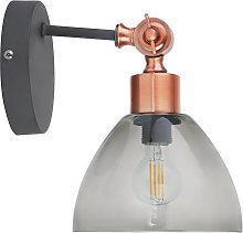 Argos Home Highland Lodge Glass Wall Light - Grey