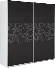Argos Home Holsted Large Sliding Wardrobe -Black &