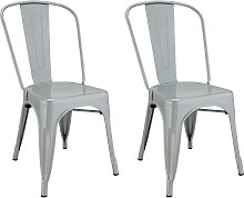 Argos Home Industrial Pair of Metal Dining Chairs