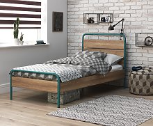 Argos Home Industrial Single Bed and Kids Mattress