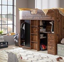 Argos Home Jackson Highsleeper & Mattress -Rustic