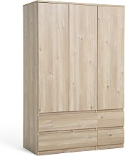 Argos Home Jenson 3 Door 4 Drawer Wardrobe - Oak