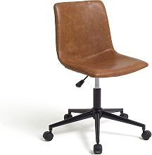 Argos Home Joey Faux Leather Office Chair - Tan